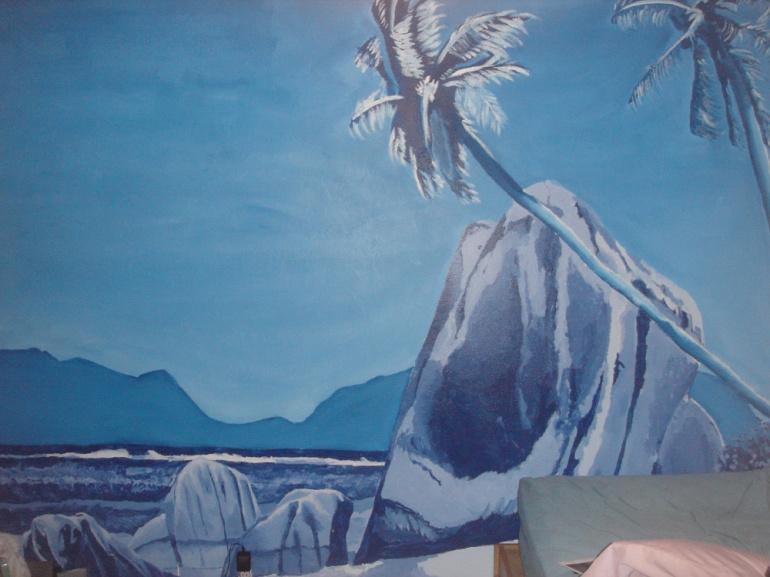 Landscape. Acrylic Mural